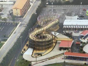 Cyclone Race Track Aerial View