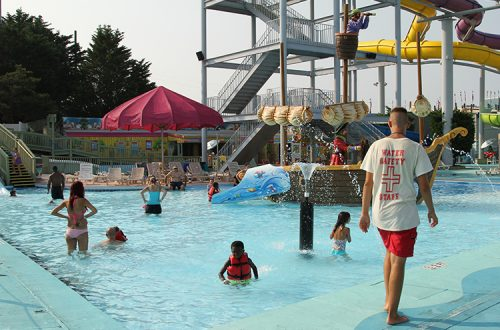 family area in waterpark