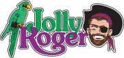 Jolly roger at the pier 30 logo