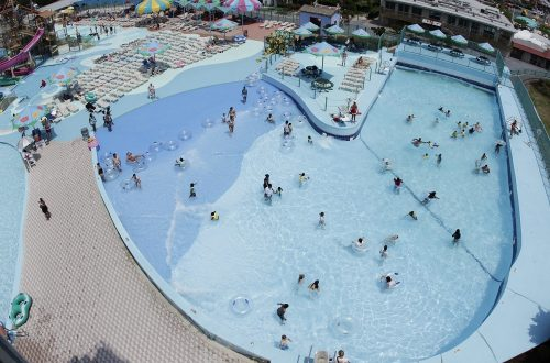 Jolly Roger Wave Pool Aerial View