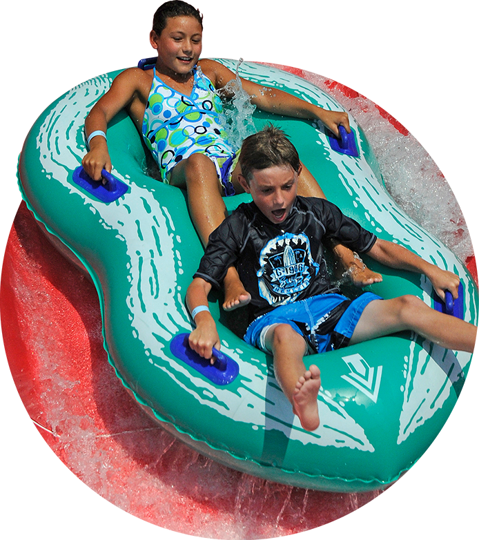 Kids On Slide in waterpark