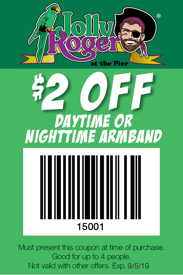 Jolly Roger Amusement Park Coupons